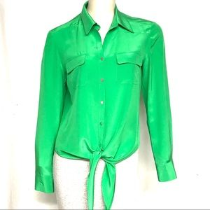 Antonio Melanie green silk top
